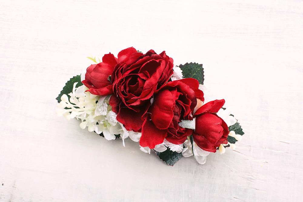 Haarspange mit Rosen