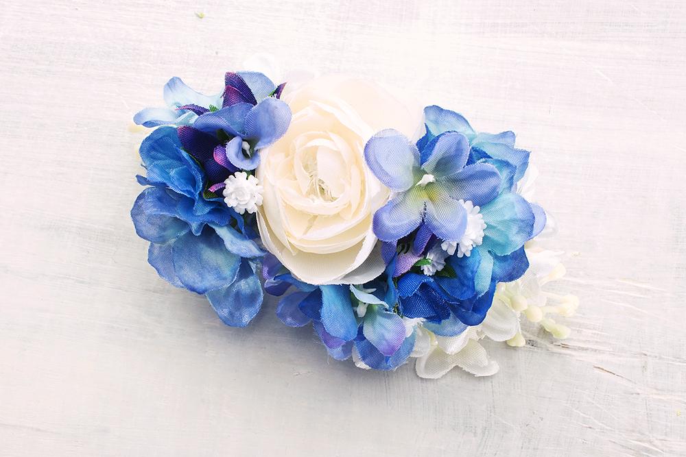 Haarspange mit Blüten