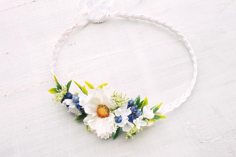 Blumenkranz für die Hochzeit