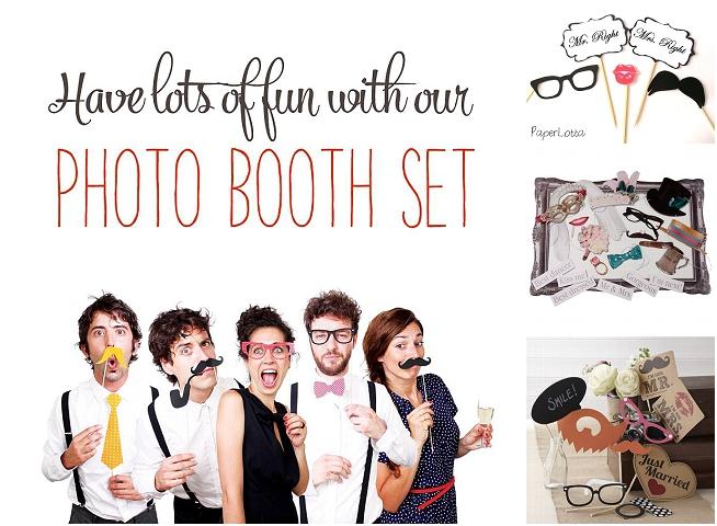 Photobooth Sets für eure Hochzeit