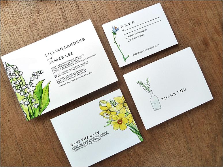 empapers Hochzeitseinladungen mit Blumen