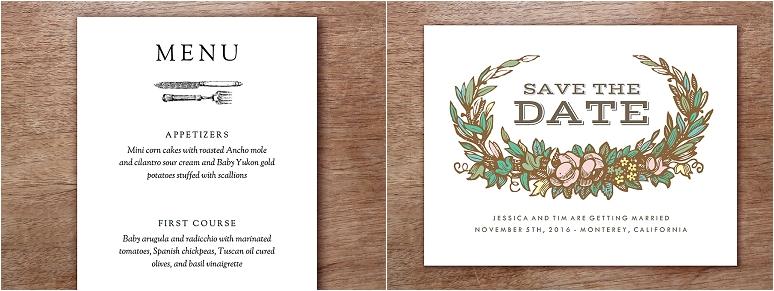 empapers Hochzeitskarten im Vintage-Stil
