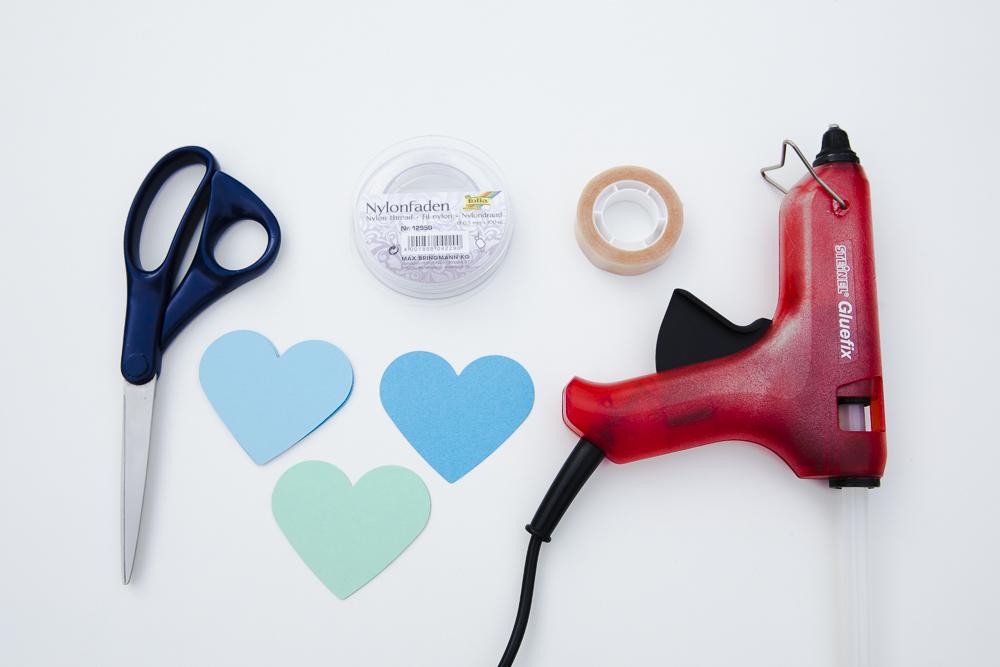 Herz Girlande - herziges DIY