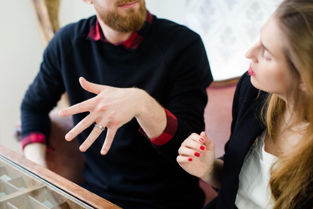 Teresa und Mirko heiraten-Trauringe