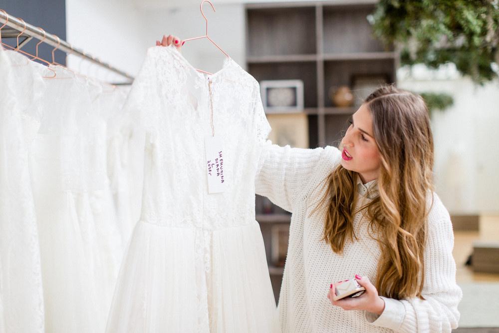 Teresa und Mirko heiraten-Das Brautkleid