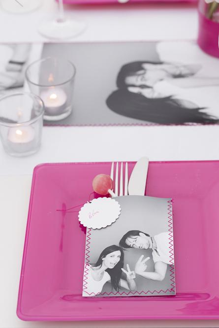 pinke Hochzeitsdekoration