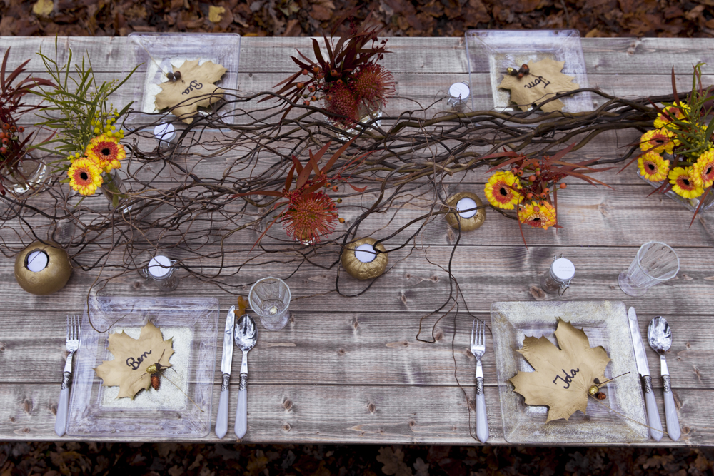 Herbstliche Tischdekoration - DIY