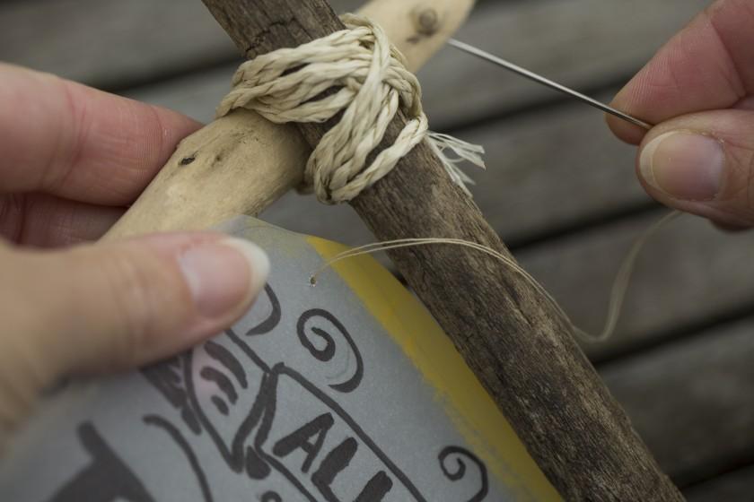 Heiraten im Boho-Stil - DIY Aufstellen aus Holz