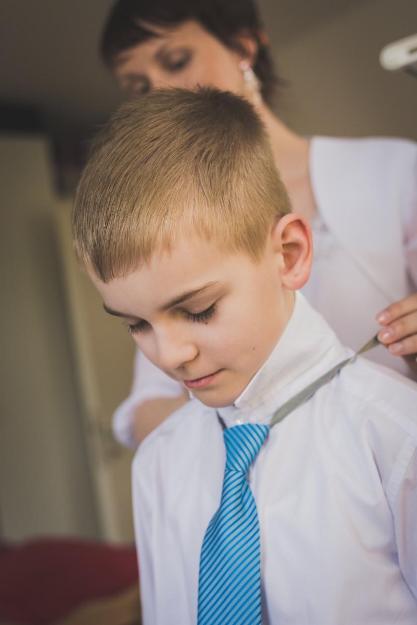 Die Krawatte sitzt