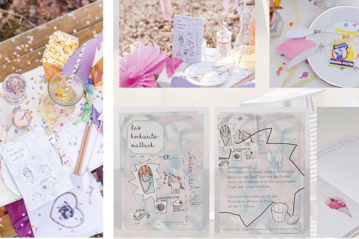 Das Hochzeitsmalbuch - ein Geschenk für die ganz kleinen Gäste