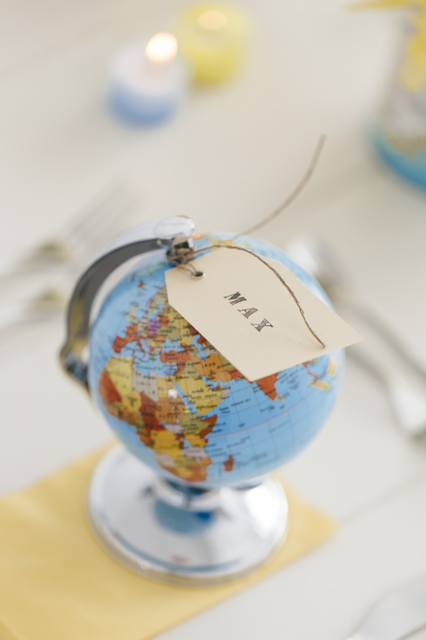 Einmal um die Welt - eine DIY - Dekoration