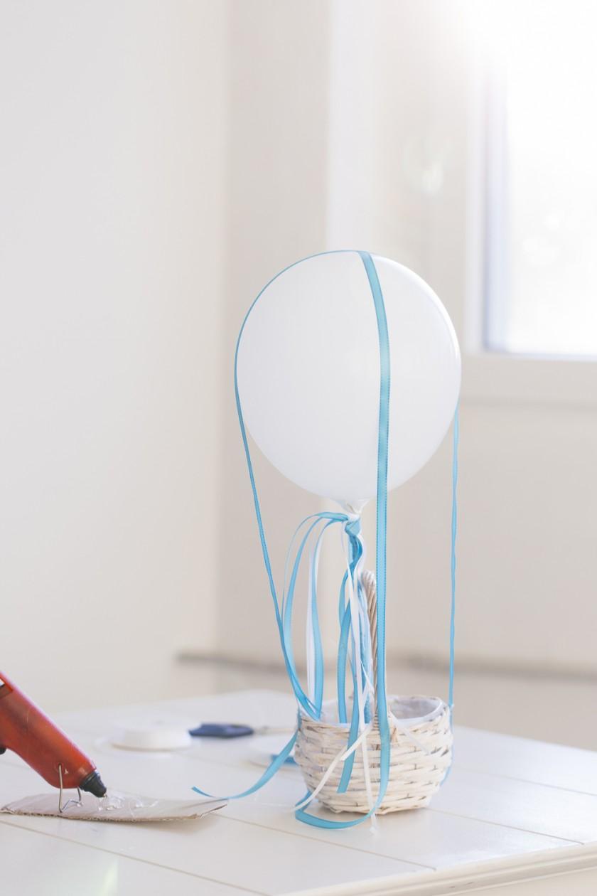 Blickfang : mit Blumen gefüllter Ballon - ein DIY