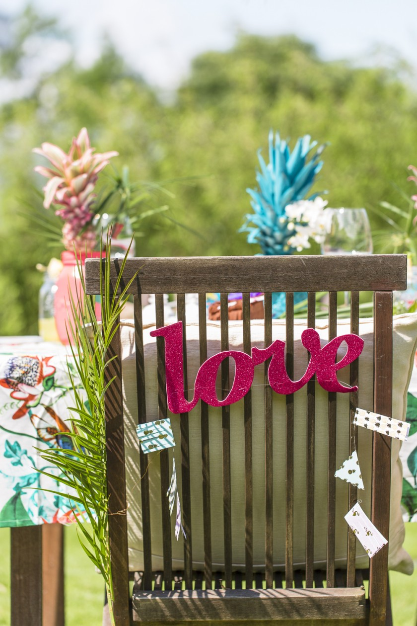Tropische Hochzeitsdekoration zum Selbermachen