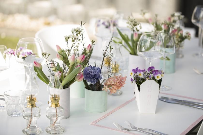 Hauchzarte Pastelltöne für die Hochzeitsdekoration