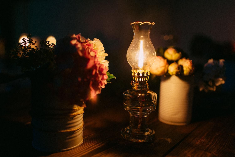 Öllampe, 21 cm
