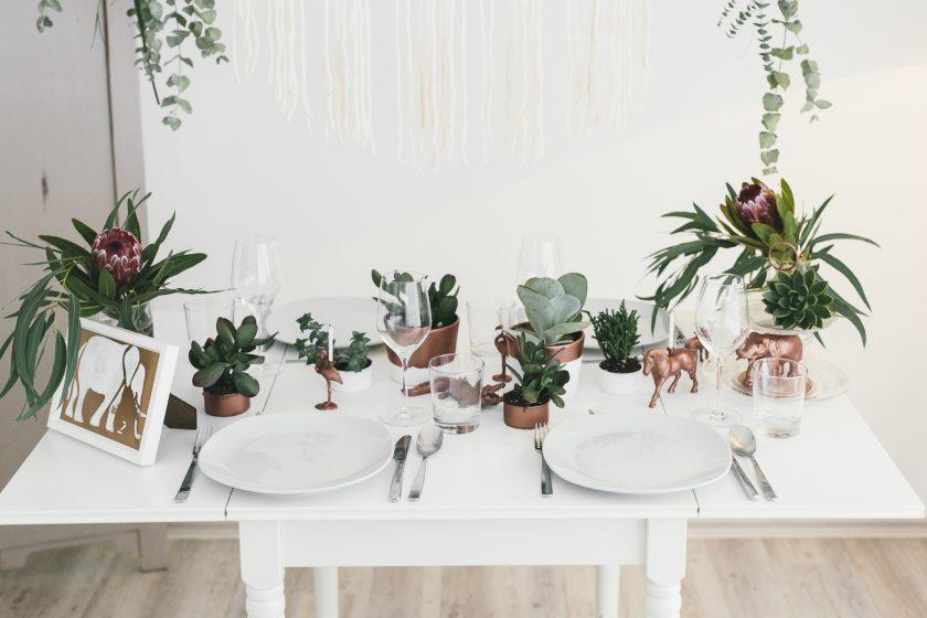 Tierische Hochzeitsdekoration