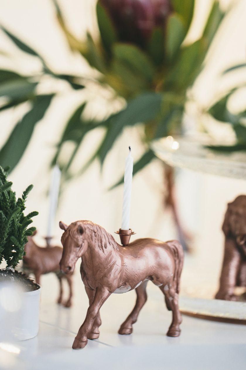 Dekoration : Kerzenständer Pferd