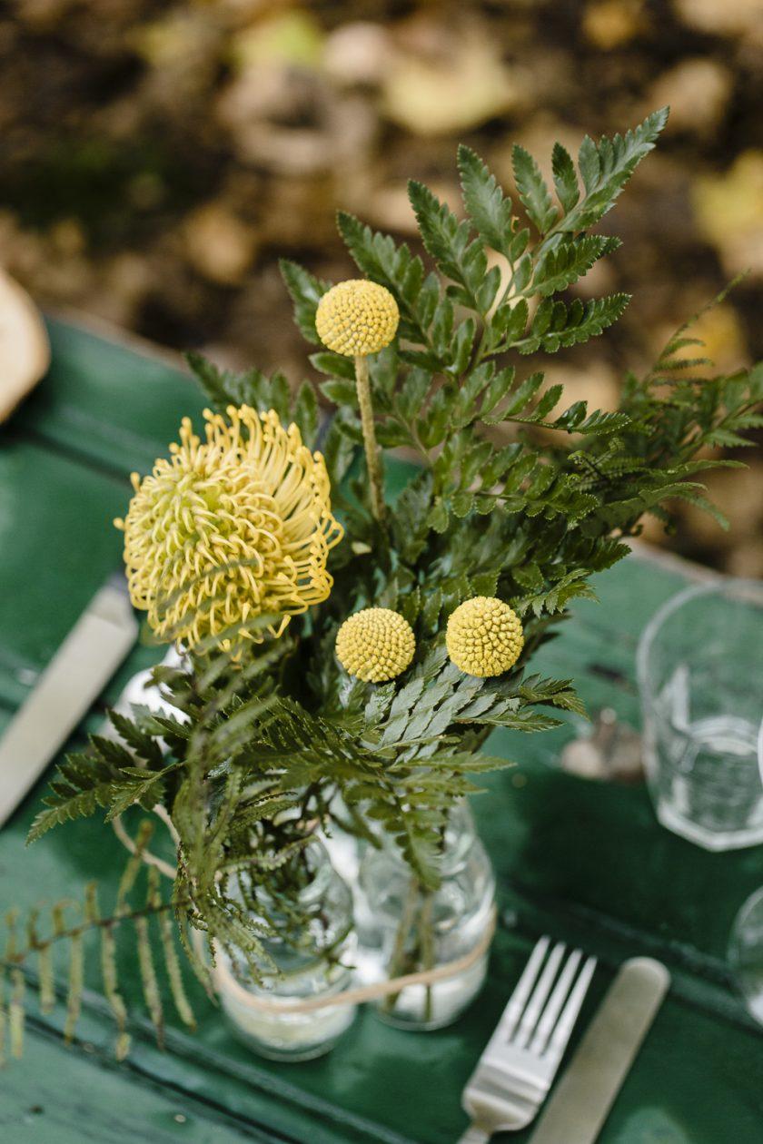 Hochzeitsparty inmitten der Natur - ein DIY