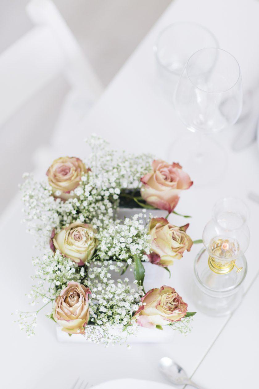 DIY - Tischdekoration Flower power in pastel