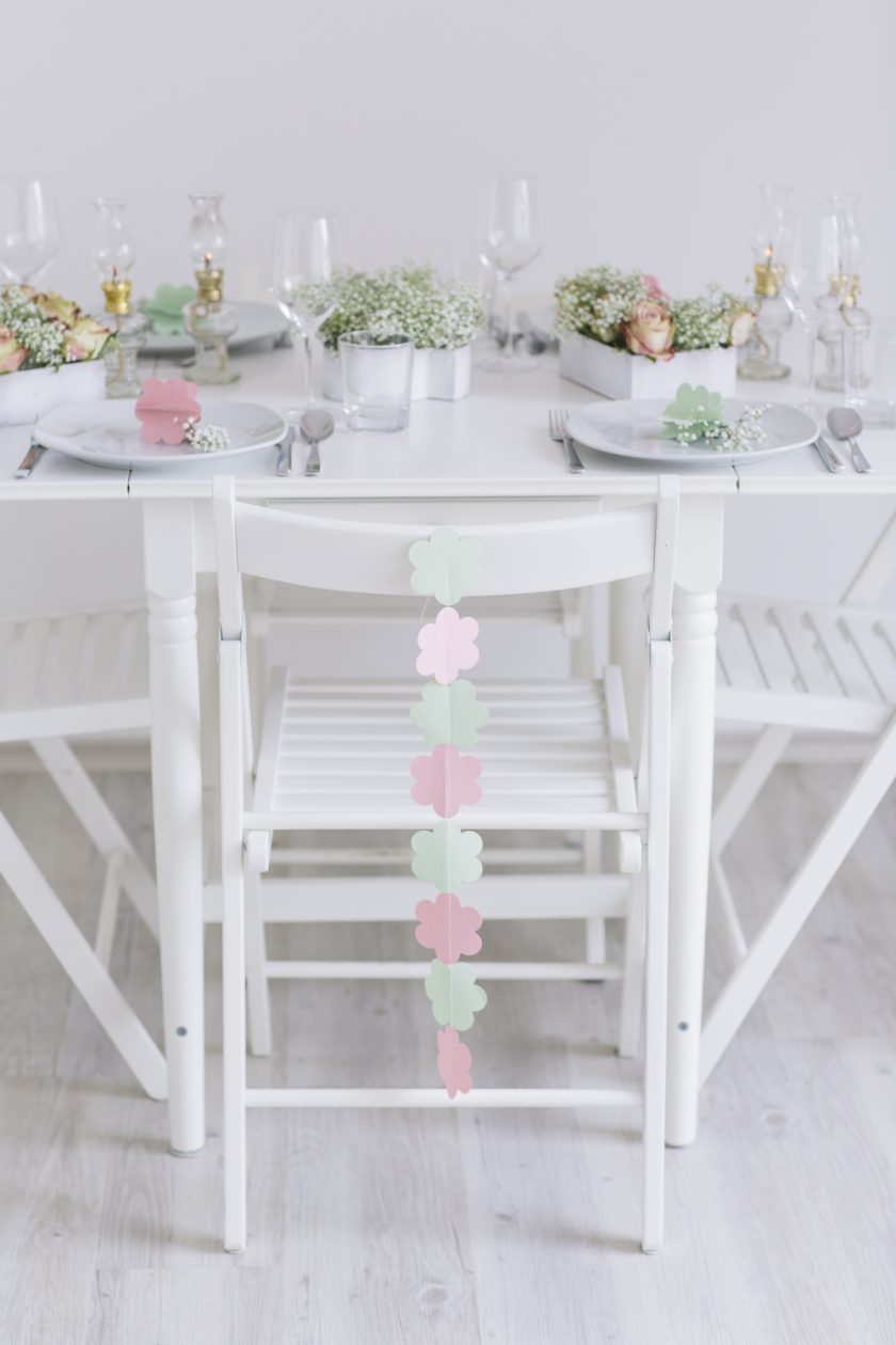 DIY - Tischdekoration Flower power in pastel