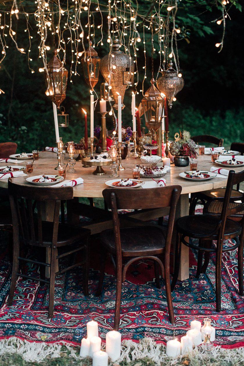 Ein Tisch - vier verschiedene Dekorationsmöglichkeiten