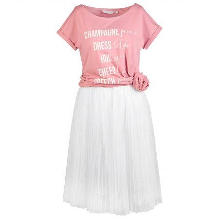 Tüllrock in weiß mit Brautjungfern Longshirt