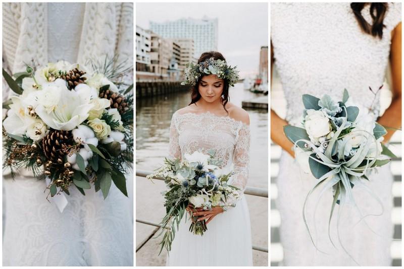 Brautstraußideen für die Winterbraut