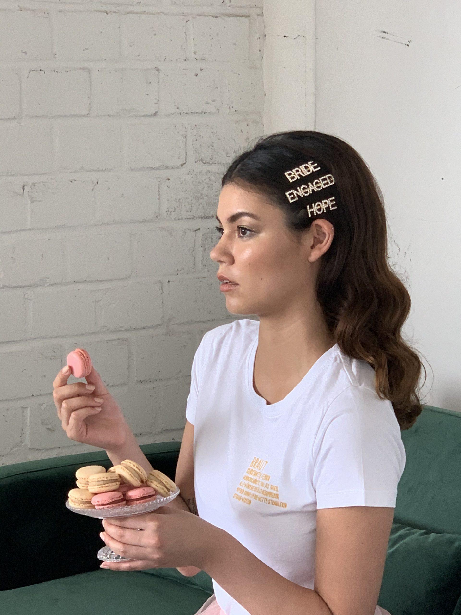 Haarspangenset für die Braut in gold