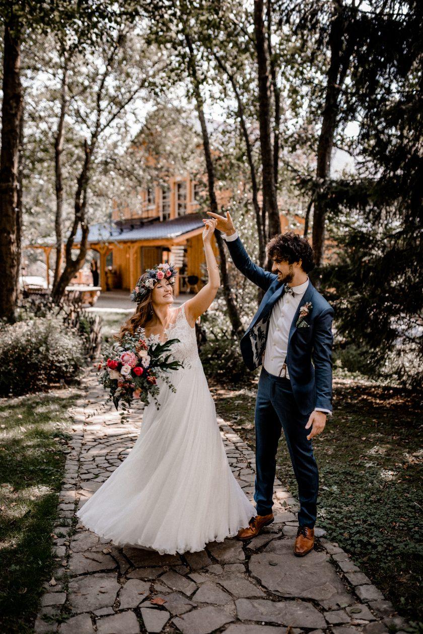 Brautpaar vor der Holsteins Mühle