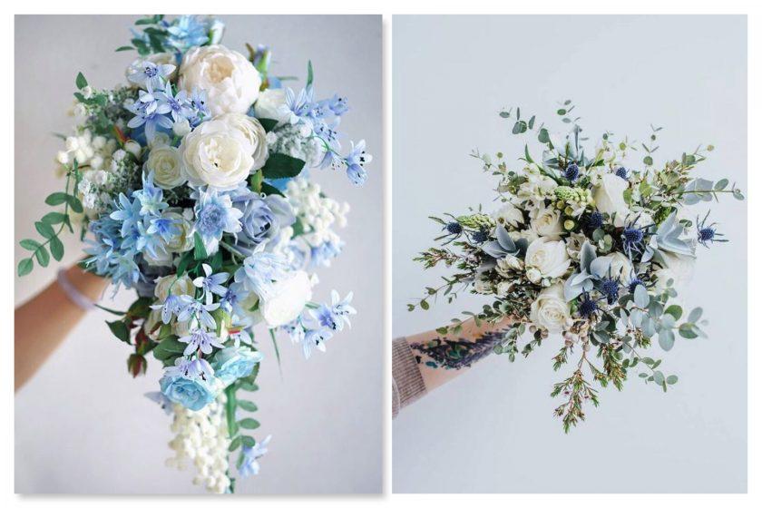 Brautsträuße in Classic Blue