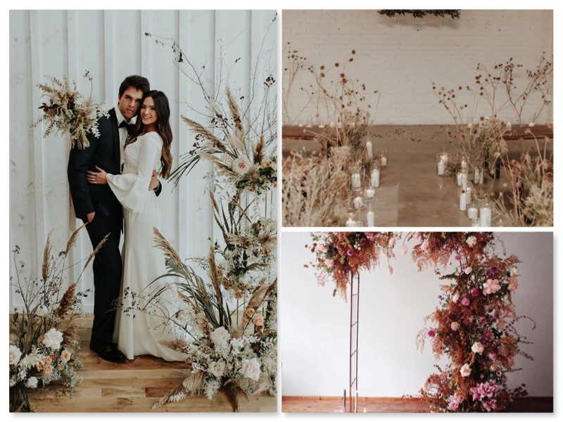 Treuzeremonie-freie Trauung-Hochzeit-Trockenblumen