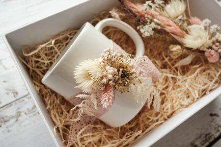 Brautjungfer-Geschenkset-Tasse-Trockenblumen