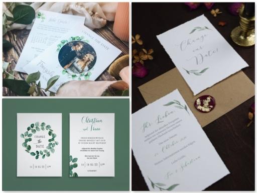 Change the date Karten-Corona-Hochzeit verschieben wegen Corona