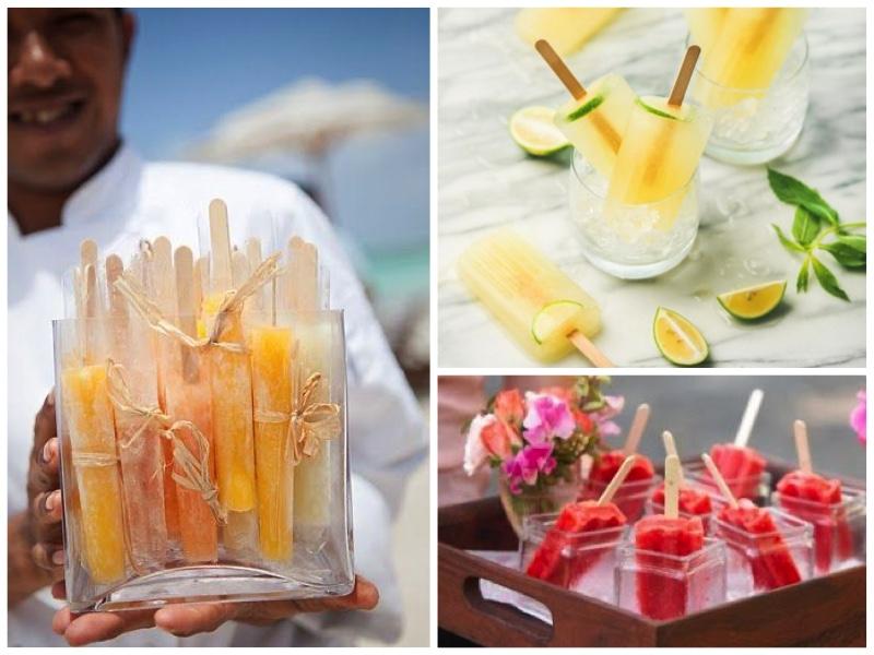 Hochzeit im eigenen Garten-Eisbar-Eis-Fingerfood