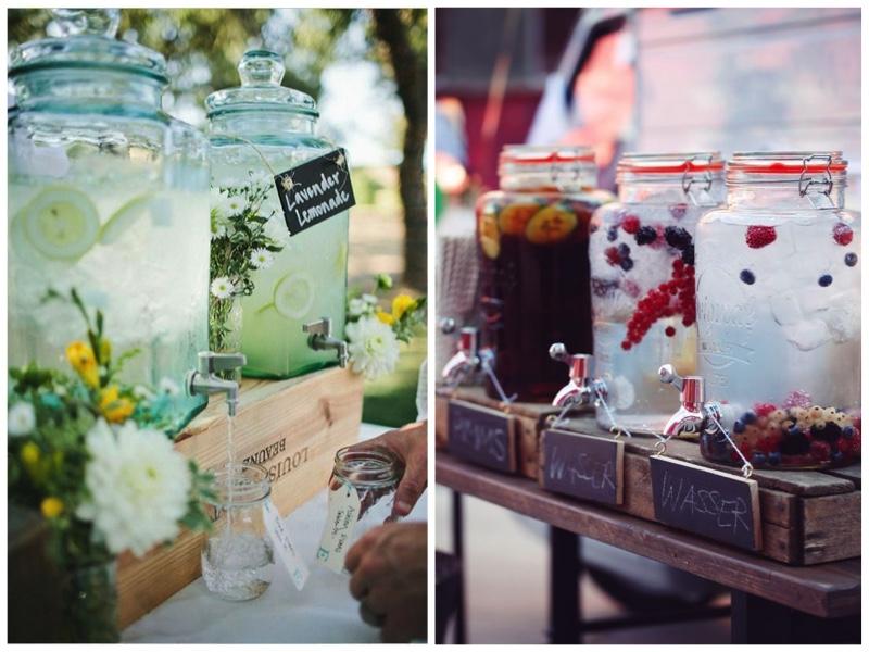 Hochzeit im eigen Garten-Limonadenbar-Sektempfang