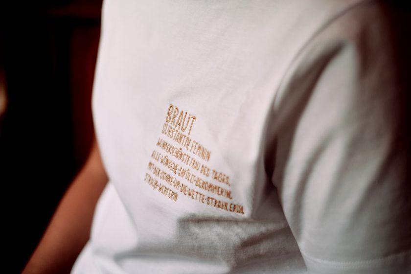 Braut T-Shirt-Brautshirt-JGA-Hochzeit-Getting ready