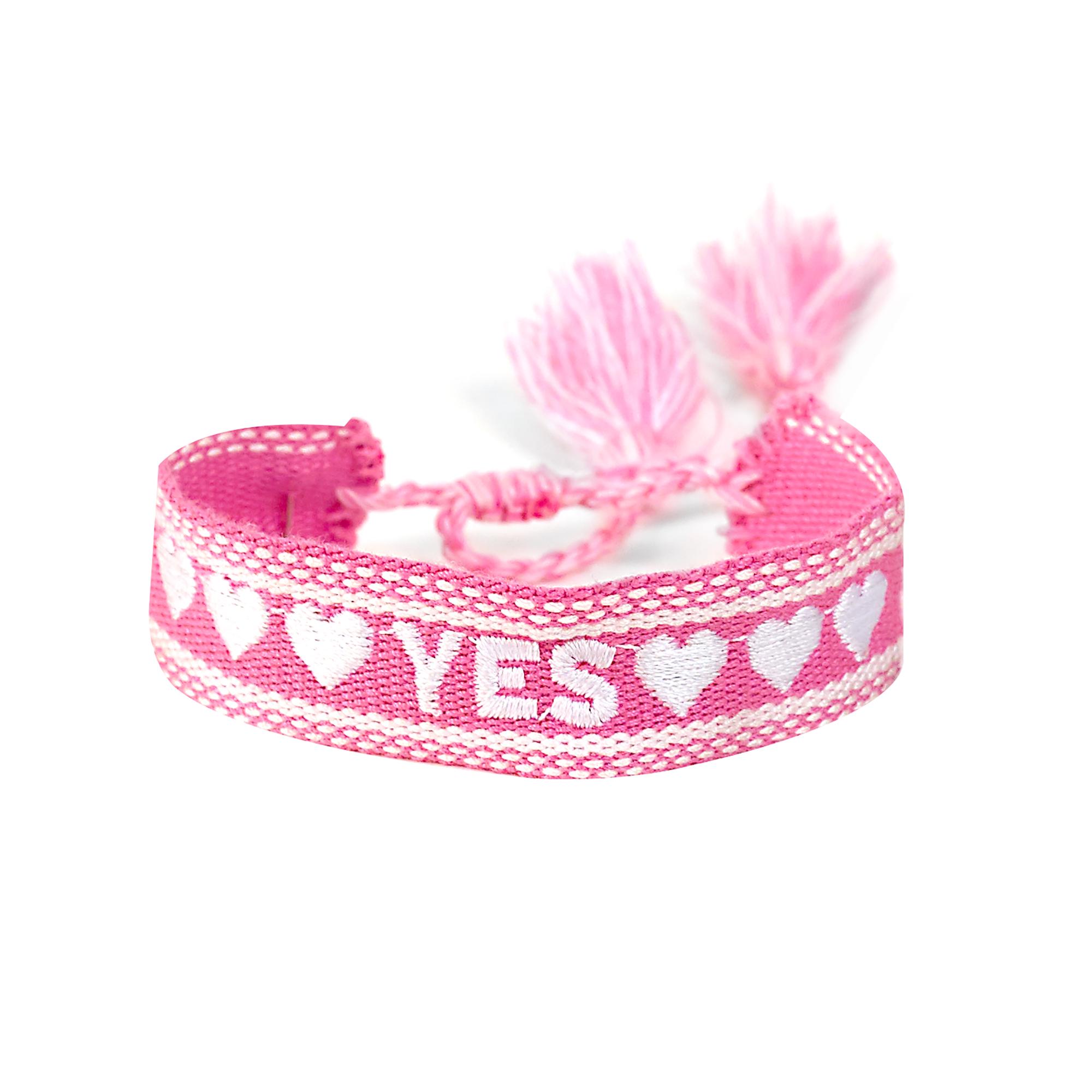 """Armband """"YES"""", rosa"""