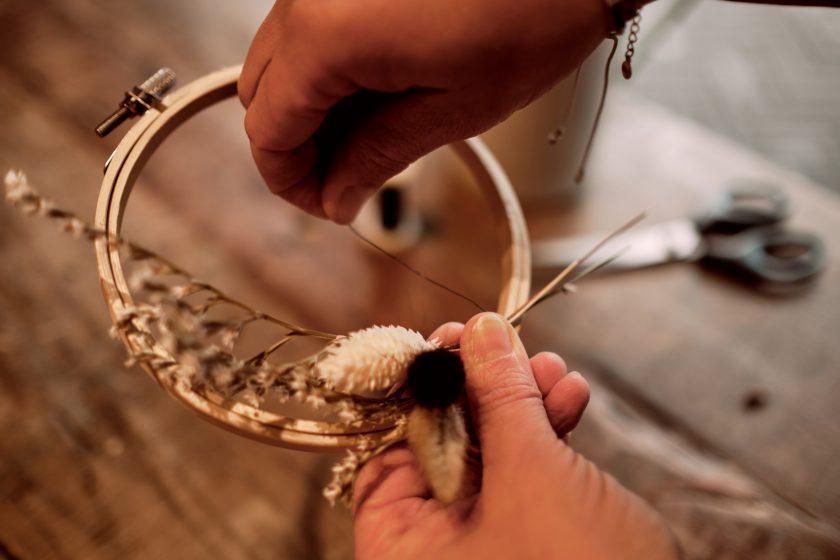Flower Hoops-DIY-Hochzeitsdekoration