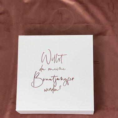 """Geschenkbox """"Willst du meine Brautjungfer werden""""-Brautjungfer-Magnetbox-Geschenkbox"""