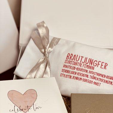Geschenkset-Brautjungfer-Geschenkbox