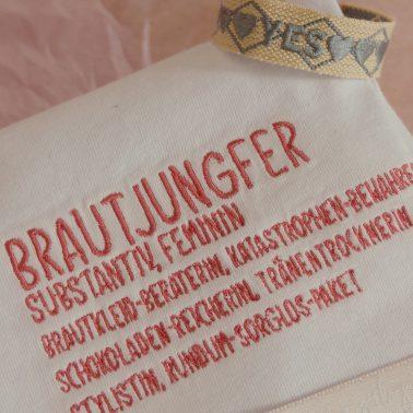 Geschenkset-Brautjungfer-Geschenk Brautjungfer