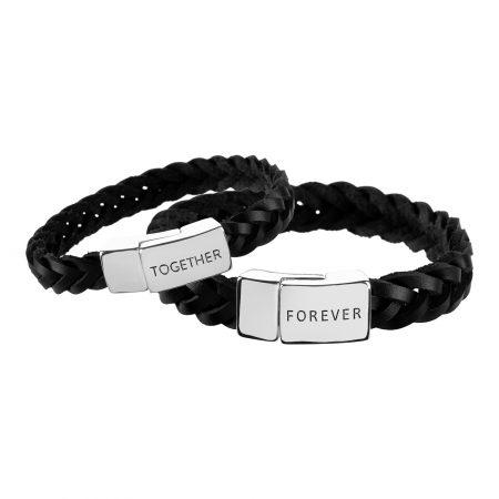 Lederarmbandset-together-forever-Geschenk für ihn