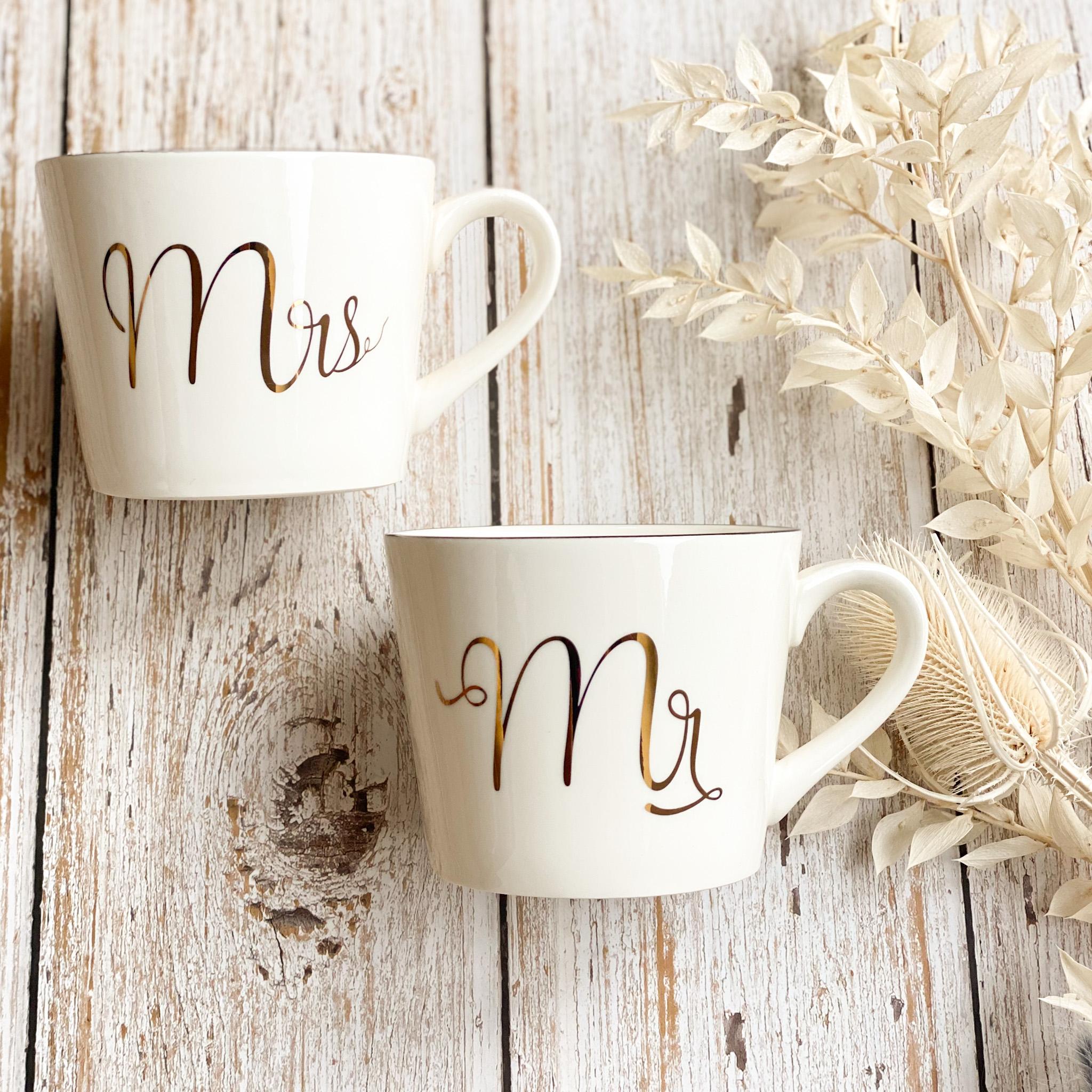 Tassenset Mr. & Mrs. | das perfekte Hochzeitsgeschenk für das zukünftige Brautpaar