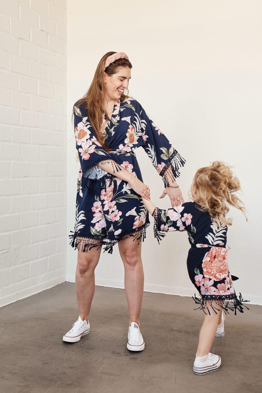 Mini Me-Kimono-Mutter-Tochter
