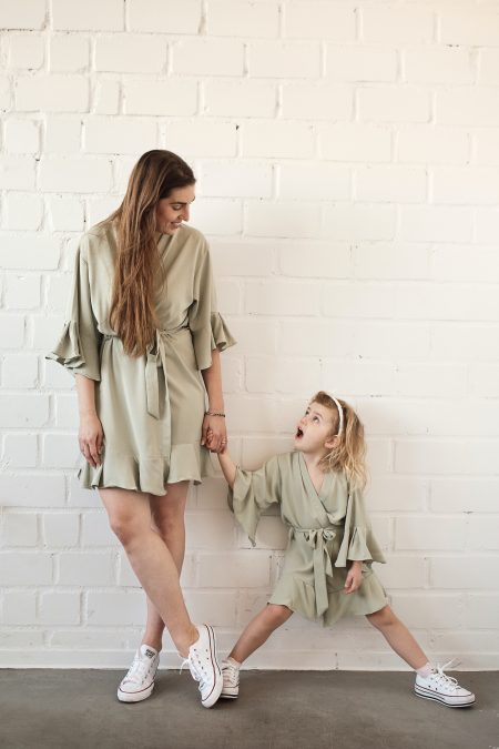 Mini Me-Mutter-Tochter-Look