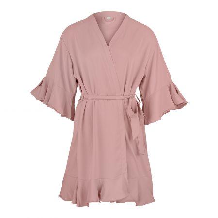 Kimono-rosé ruffles-Getting ready-Hochzeit
