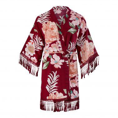 Kimono-One Size-Morgenmantel