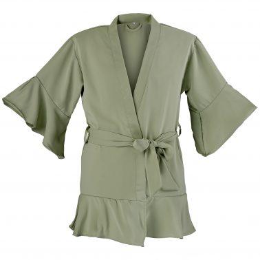 Kimono-Kinder-Salbeigrün