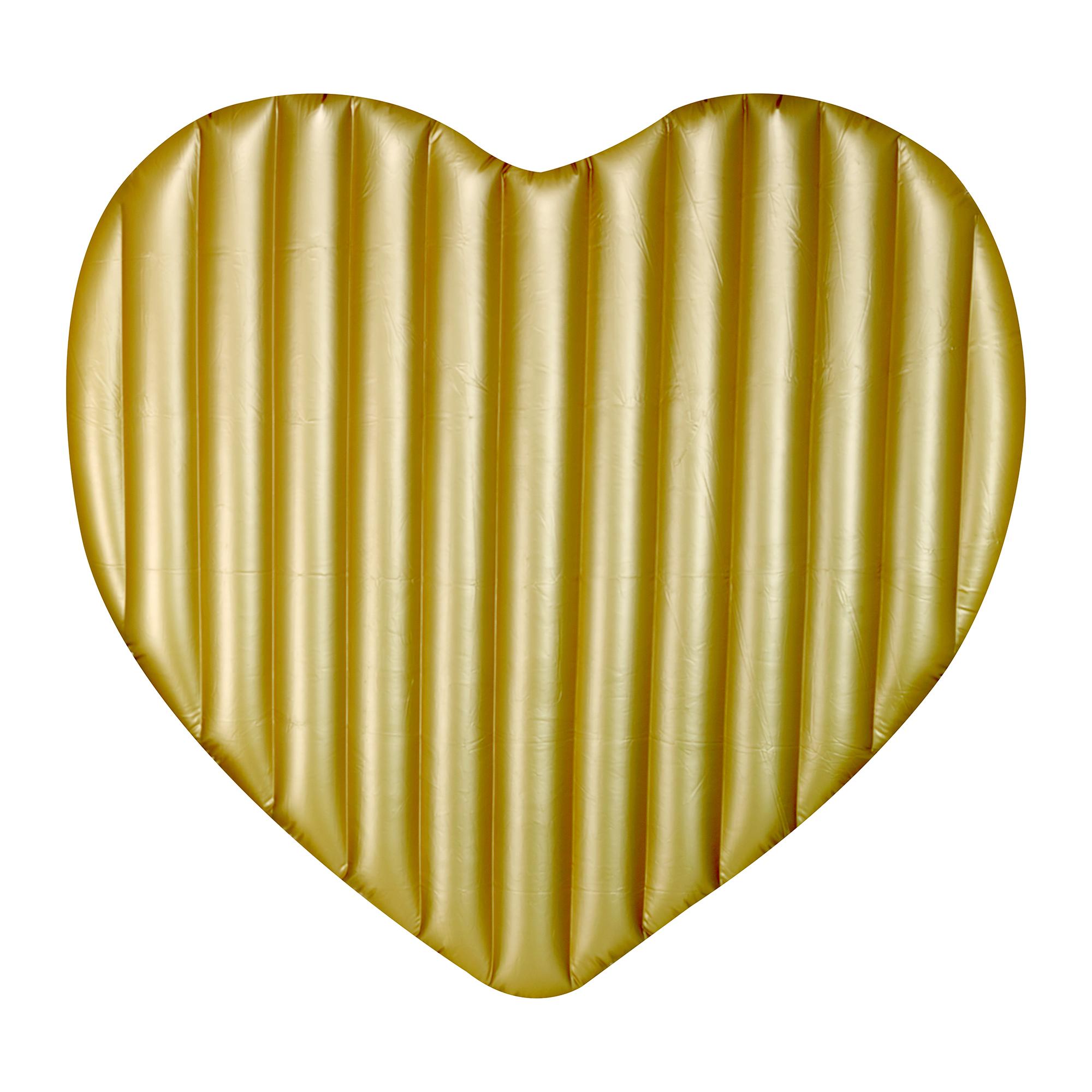 Luftmatratze für Zwei - goldenes Herz
