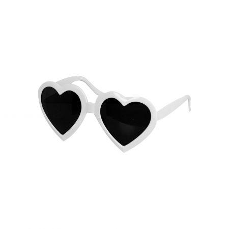 Sonnenbrille in Herzform-Accessoire JGA-Junggsellinnenabschied